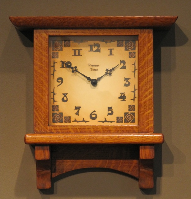 Highland wall clock at the present time for Arts and crafts clocks for sale