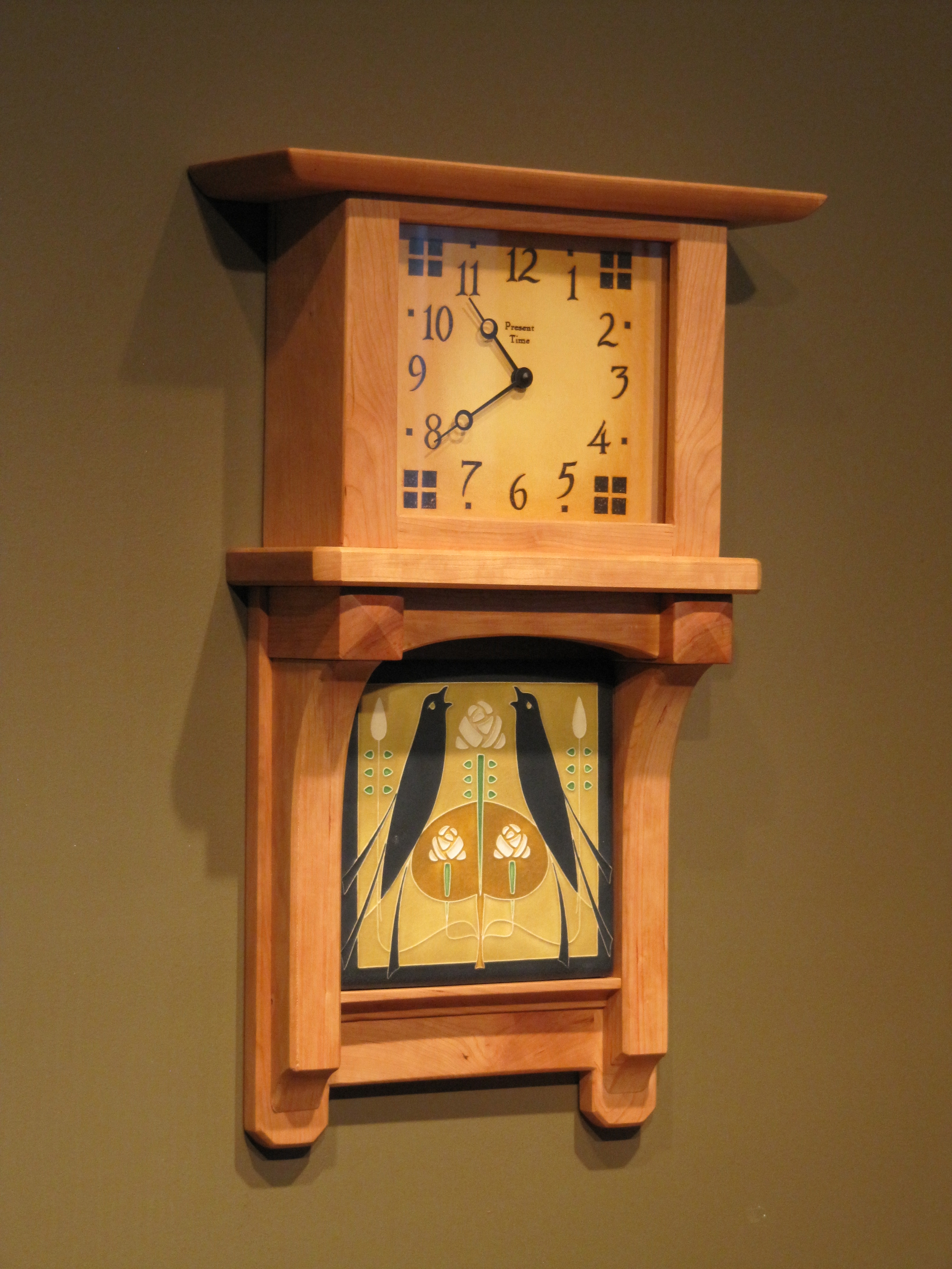 Trestle arch wall custom designs at the present time for Arts and crafts style wall clock